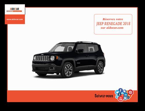 Location Jeep Renegade automatique au Maroc