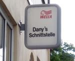 Friseurwerbung aus einem Rheindorf