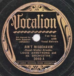 Louis Armstrong : Ain't Misbehavin' (1929)