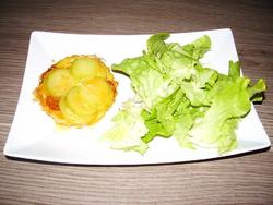 Mini tartes tatin courgette chorizo