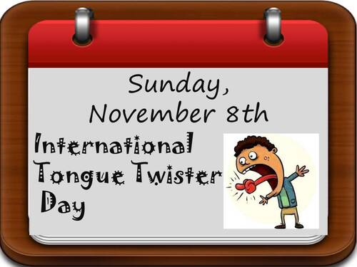 International Tongue Twister Day