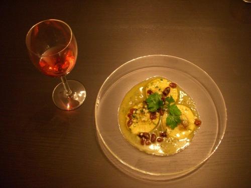 Ravioles de foie gras ail et fines herbes