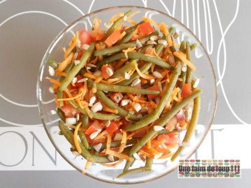 Salade haricots verts tomate et carotte