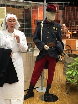 Visite de l'exposition sur la Première Guerre Mondiale