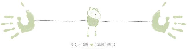 ✿ Carte Fête des Pères à imprimer