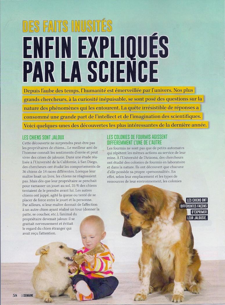 Grand Reportage:  Des faits inusités enfin expliqués par la science (2 pages)