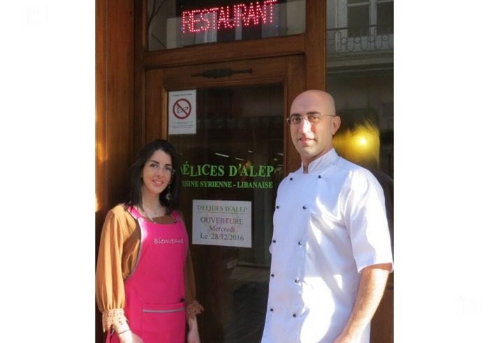 Une histoire miraculeuse existe aussi   à Tournus (Saône-et-loire) ***  Un couple de réfugiés syriens aux commandes d'un restaurant