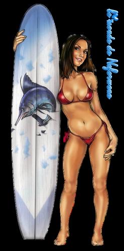 Tubes sur le surf