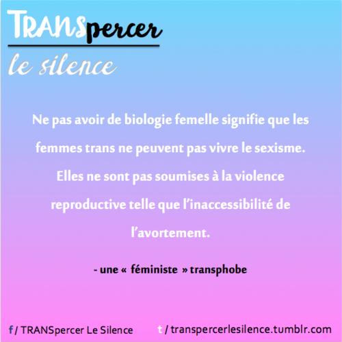 Transphobie dans le mouvement féministe