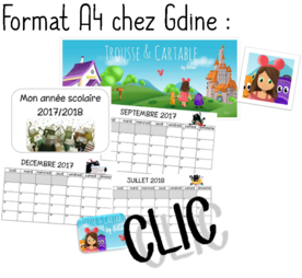 Calendrier  2017/2018 - Splat le chat