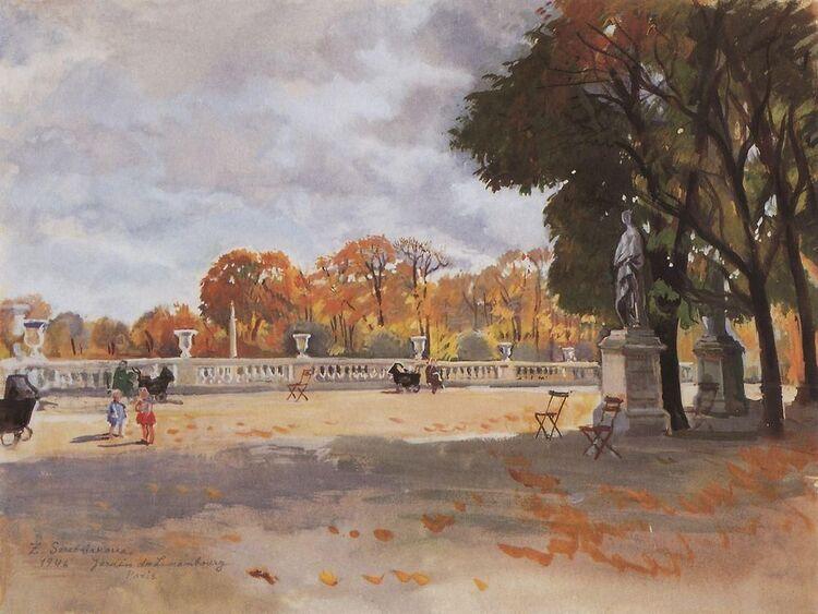 Zinaida Serebriakova. La terrasse du Jardin du Luxembourg