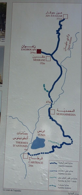 le temple des eaux et l'aqueduc de Zaghouan