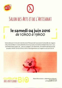 Salon des Arts et de l'Artisanat - samedi 4 juin 2016