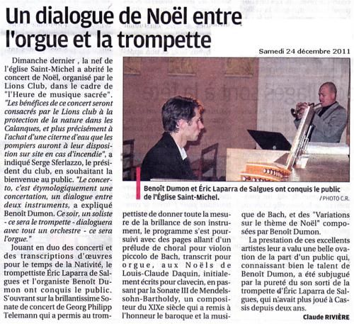 Cassis : un dialogue de Noël entre orgue et trompette