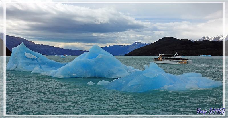 Les superbes icebergs des Glaciers Upsala et Spegazzini - Lago Argentino - Patagonie - Argentine