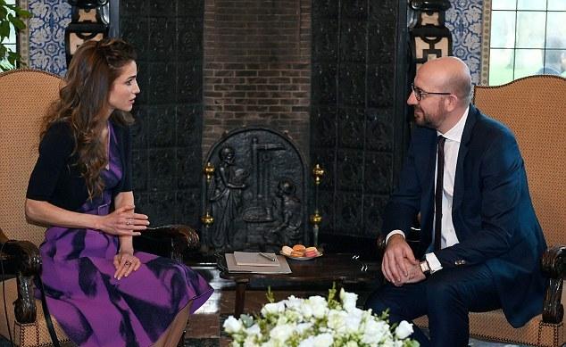 Rania chez le premier ministre