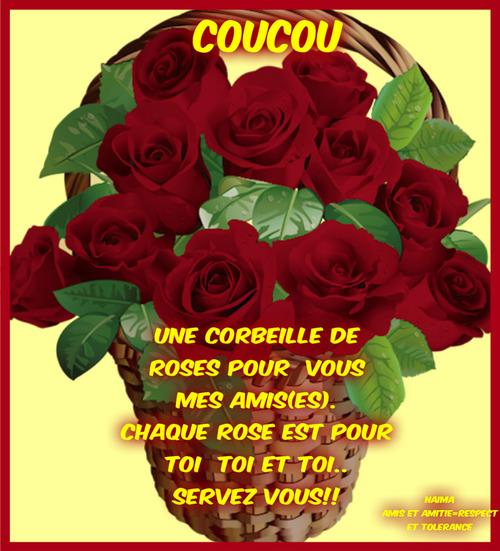 UNE CORBEILLE DE ROSES POUR VOUS