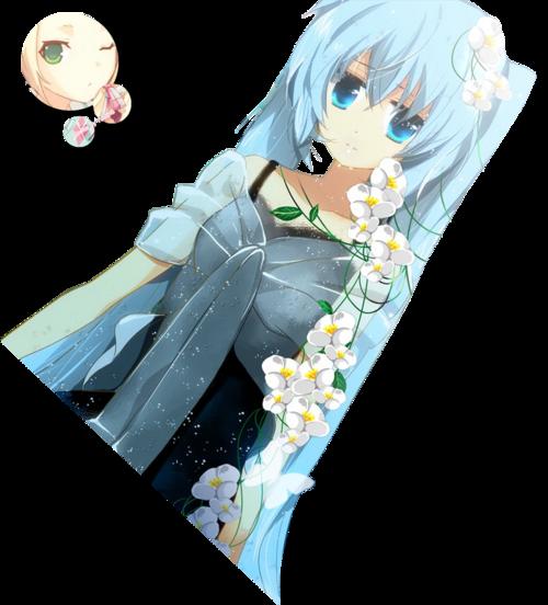 Render Hatsune Miku flowers