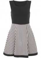 Annie Greenabelle TEA DRESS BLACK TOP PEACH BLACK SKIRT