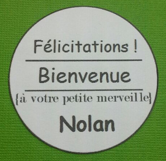 Carte de bienvenue !