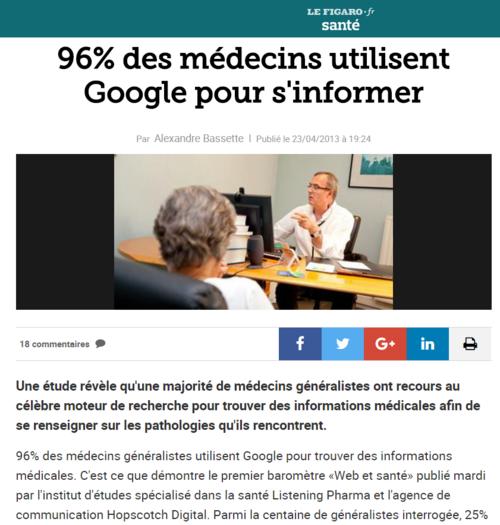 Google, mon médecin traitant