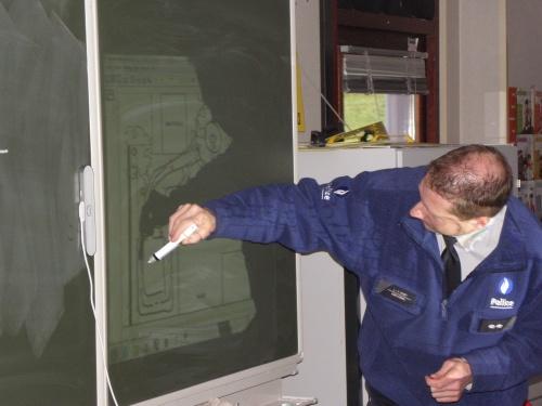 Un policier à l'école