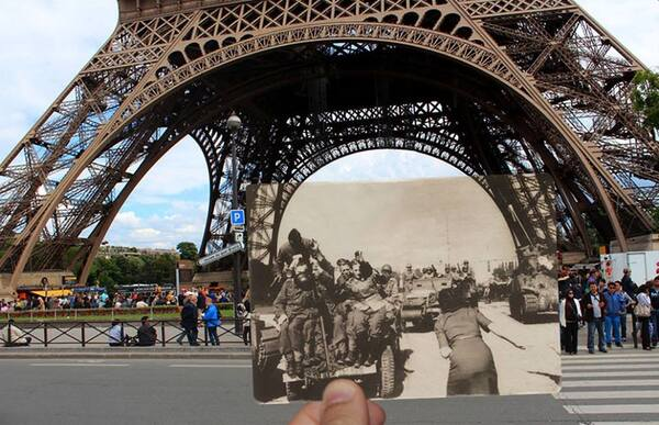 Paris 1944, Paris 2016...des photos géniales !
