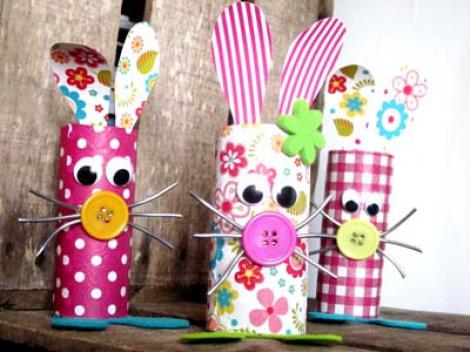 Bricolage lapin la maternelle de camille - Idee bricolage avec rouleau de papier toilette ...