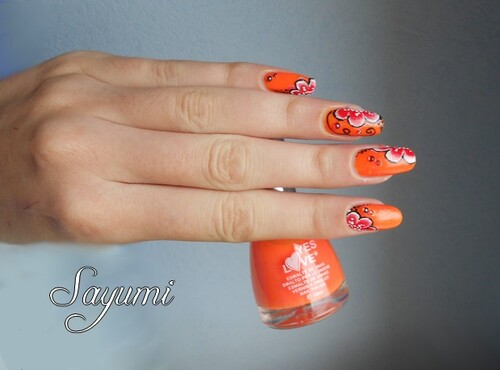 Nail Art Zumo de Naranja