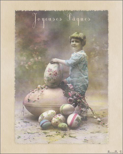 Cartes de Pâques Style Ancien
