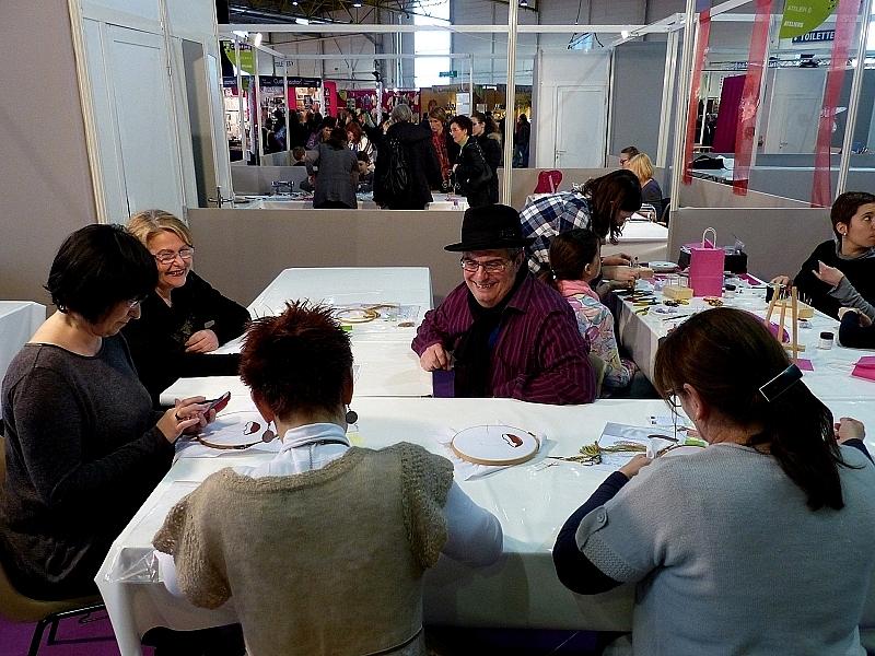 Metz / L'atelier d'Agruidd le brodeur à Creativa 2014...