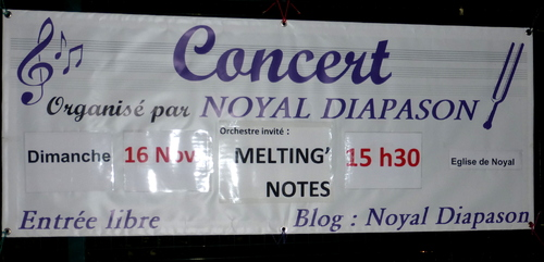 - 16/11/2014 : Concert à Noyal avec Melting'Notes