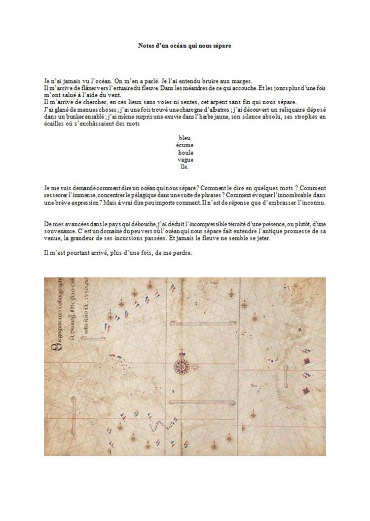 Julien Boutonnier - Notes d'un océan qui nous sépare - [VC0713]
