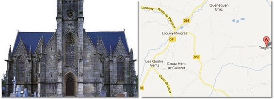 Chapelle Saint-Ivy  Loguivy    Plougras