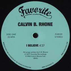 Calvin B. Rhone - I Believe