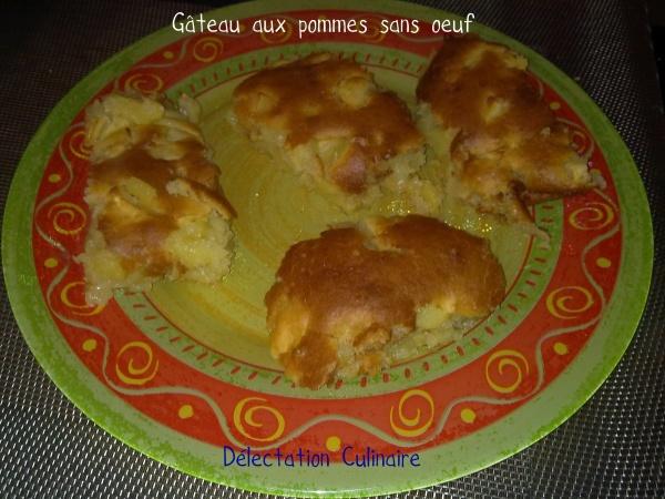 Gâteaux moelleux aux pommes sans oeuf