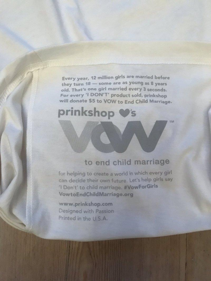 T-shirt en faveur de la lutte contre le mariage précoce
