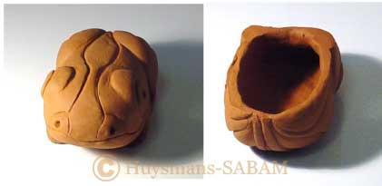 Sculpture grenouille en terre creuse - Arts et sculpture: sculpteur figuratif