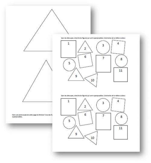 CP - Géométrie - Reconnaître des formes - Complément Vivre les Maths p23