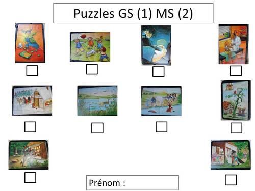 Fiches de suivi et brevets MS GS période 1