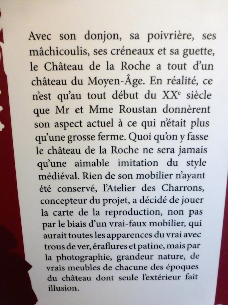"""Le """"château""""  de la Roche à Saint-Priest!"""