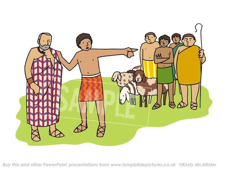Joseph reports his brothers. From the PowerPoint presentation: Joseph - coat & dreams | Lamp Bible Pictures