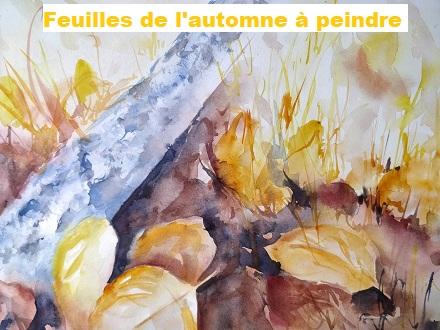 Dessin et peinture - vidéo 3000 : Peindre quelques feuilles mortes en automne - nature morte à l'aquarelle.