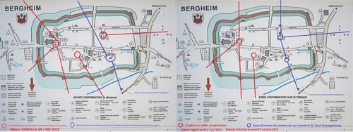 Les relevés à distance puis sur le terrain dans le village de Bergheim.( Albert Fagioli)