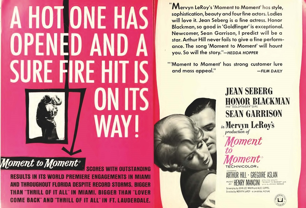 MOMENT TO MOMENT BOX OFFICE USA 1966