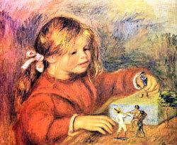 Auguste Renoir : Claude Renoir jouant