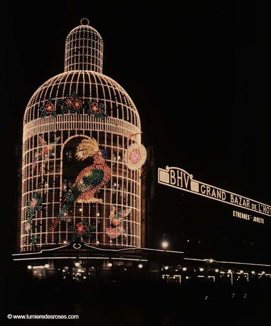 leon gimpel illumination noel paris magasin 08 Les autochromes parisiens de Léon Gimpel