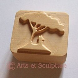 tampon à beurre personnalisé en buis - Arts et Sculpture
