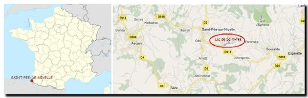La situation de Saint-Pee-sur-Nivelle