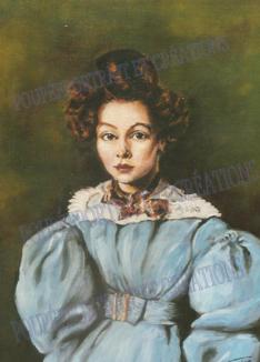 Huile sur toile, nièce du peintre Camille COROT....Artblog
